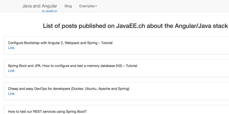 The Spring Boot, AngularJS 2, TypeScript: Hello World
