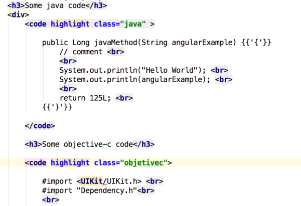Add highlight js to an Angular 2 application